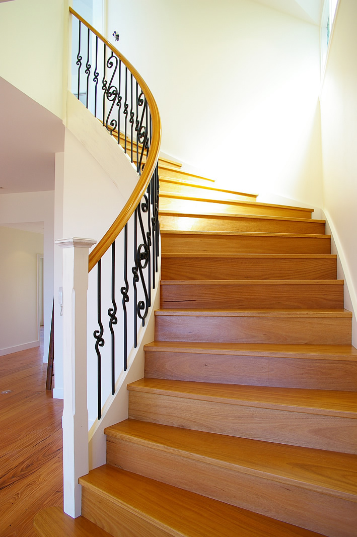 Allwood stairs timber stairs and handrails - Stairlift for curved staircase ...